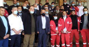 اللجنة الشعبية للاجئين تكرم ضباط الإسعاف والطوارئ للهلال الأحمر بخان يونس